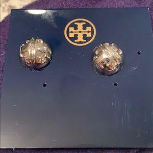 Tory Burch Domed Logo stud earrings